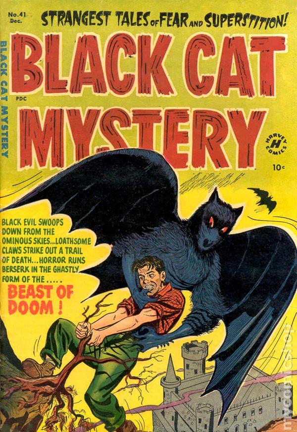Black Label Price >> Black Cat Mystery (1951 Harvey) comic books
