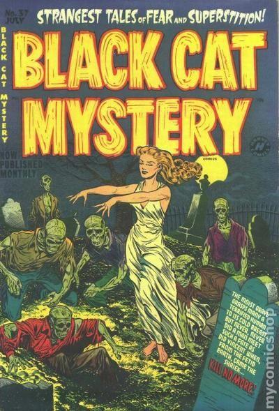 Black Book Car >> Black Cat Mystery (1951 Harvey) comic books