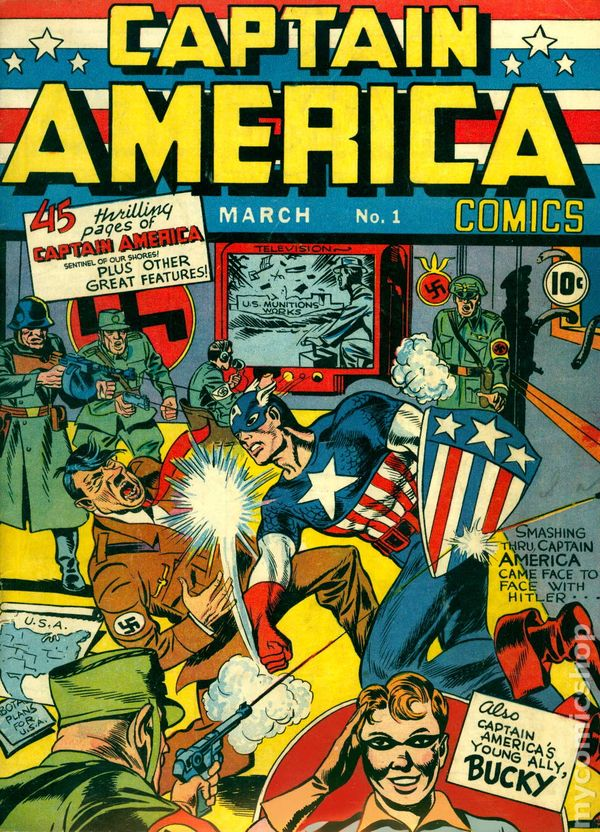 Captain America Comics 1 March 1941 Captain America Comics 1941