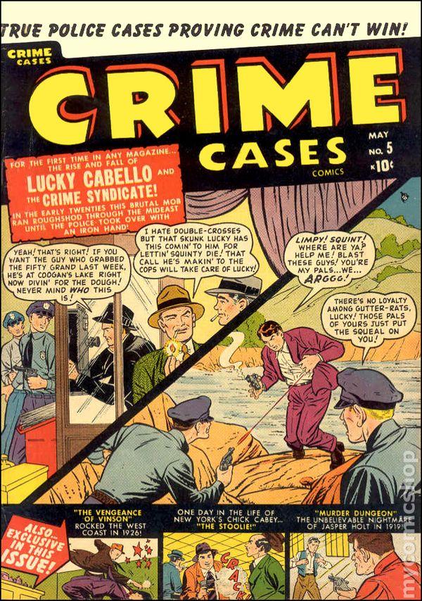 1950 comics crime comic books cases