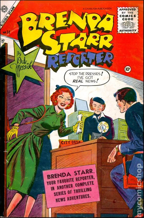 brenda starr  1955 charlton  comic books