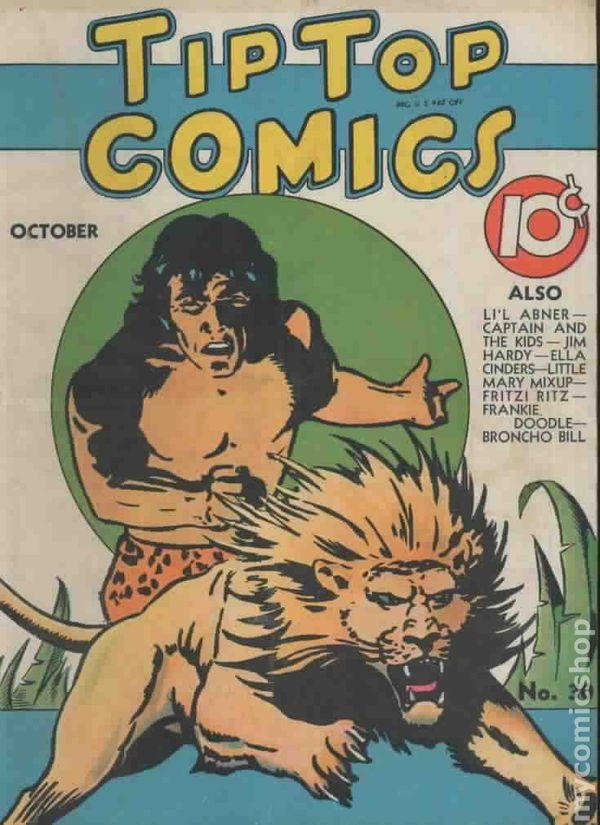Comic strip art restoration desire