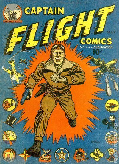 captain flight comics 1944 comic books