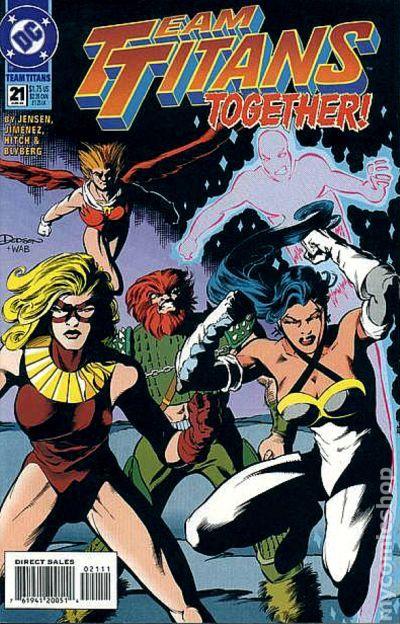 team titans 1992 comic books