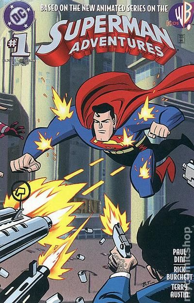 SUPERMAN ADVENTURES #2 NEAR MINT 1996 METALLO APPEARANCE ANIMATED SERIES