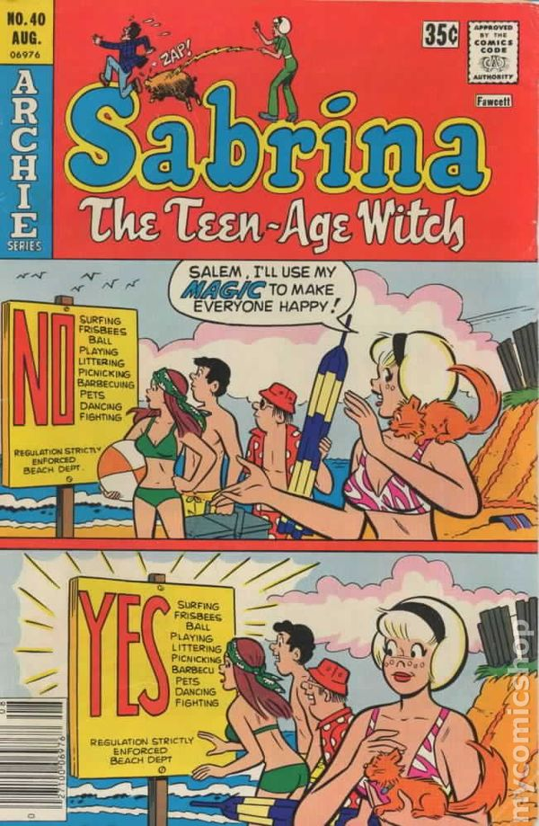 Comic books in 'Swimsuit' Sabrina The Animated Series Harvey