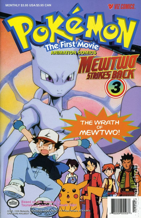 Pokemon The First Movie Mewtwo Strikes Back 1998 Comic Books