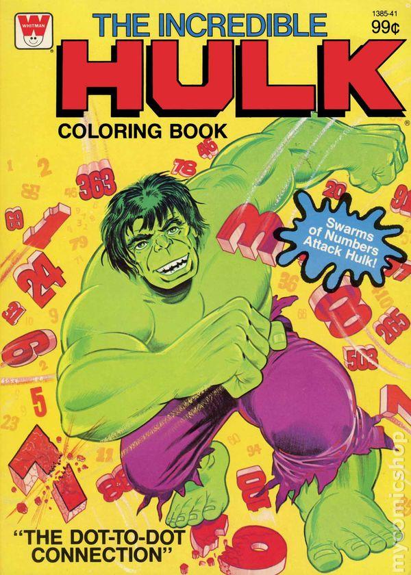 Incredible Hulk Coloring Book SC (1970-1980 Whitman ) comic books