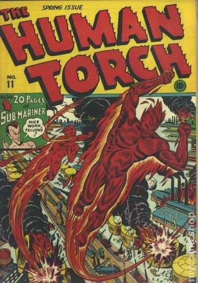 human torch comics  1940  comic books