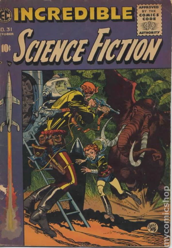 incredible science fiction  1955 ec  comic books 1950