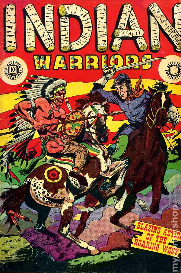 Indian Warriors 1951 Accepted Publications Comic Books