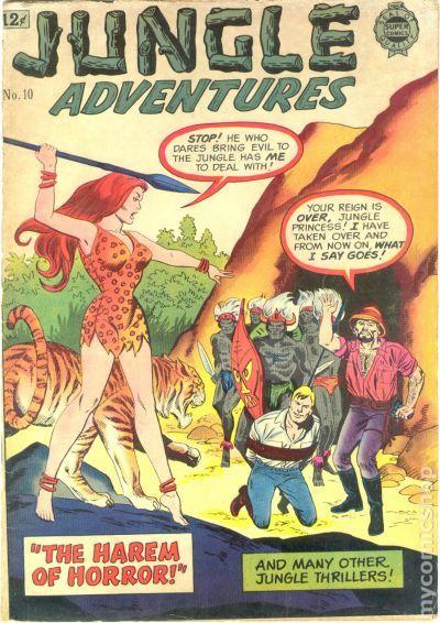 jungle adventures 1963 super comics comic books. Black Bedroom Furniture Sets. Home Design Ideas