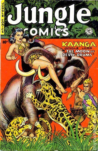 Jungle Comics 1940 Fiction House Comic Books 1950 1959