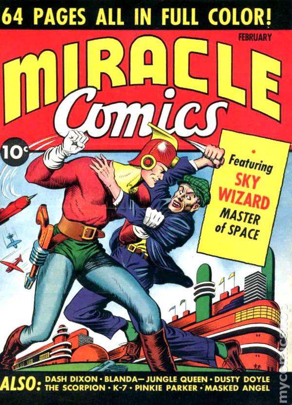 comics 1940 comic miracle books issue