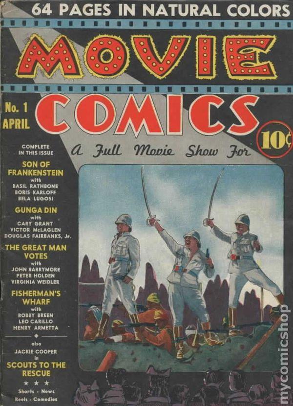 movie comics  1939 national  comic books