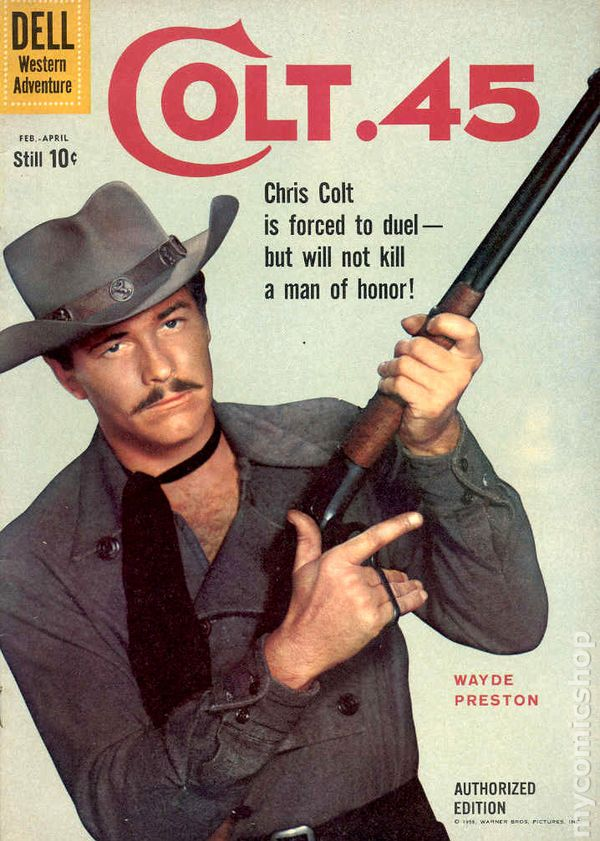 Colt 45 1960 Comic Books In Related To Non Animated Movie Tv