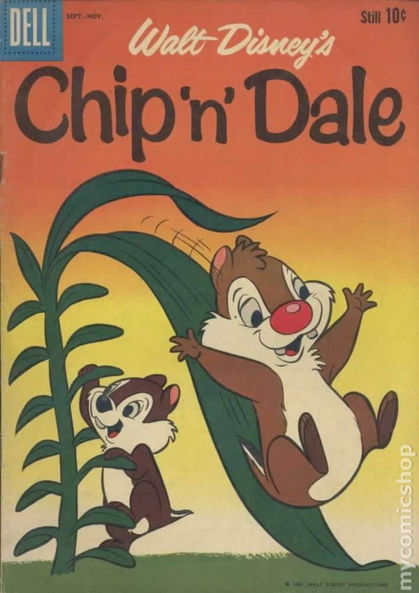 Chip N Dale #12 10c Cover Price Variant VG 1957 Stock Image Low Grade