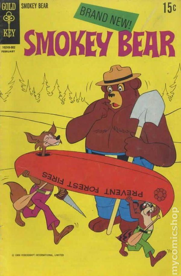 smokey bear 1970 gold key comic books