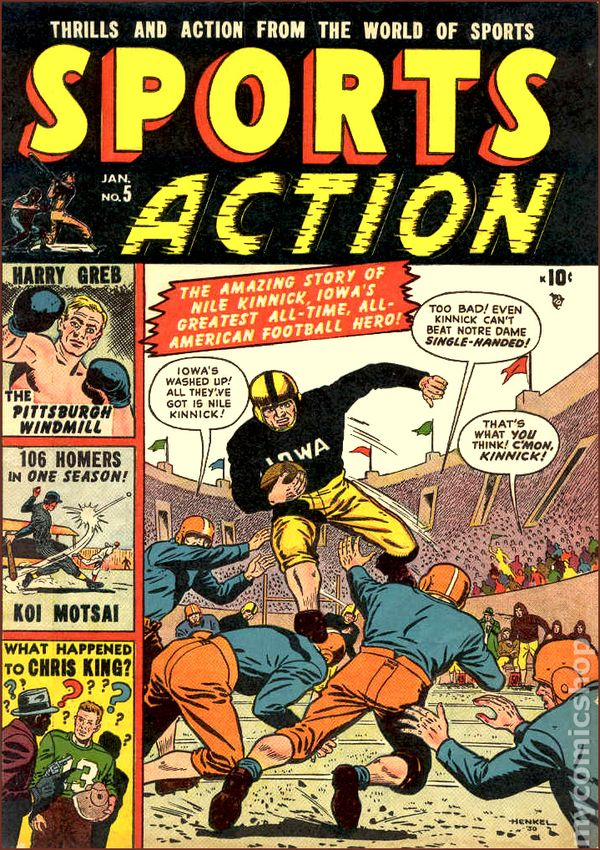 Sports Action 1950 Comic Books