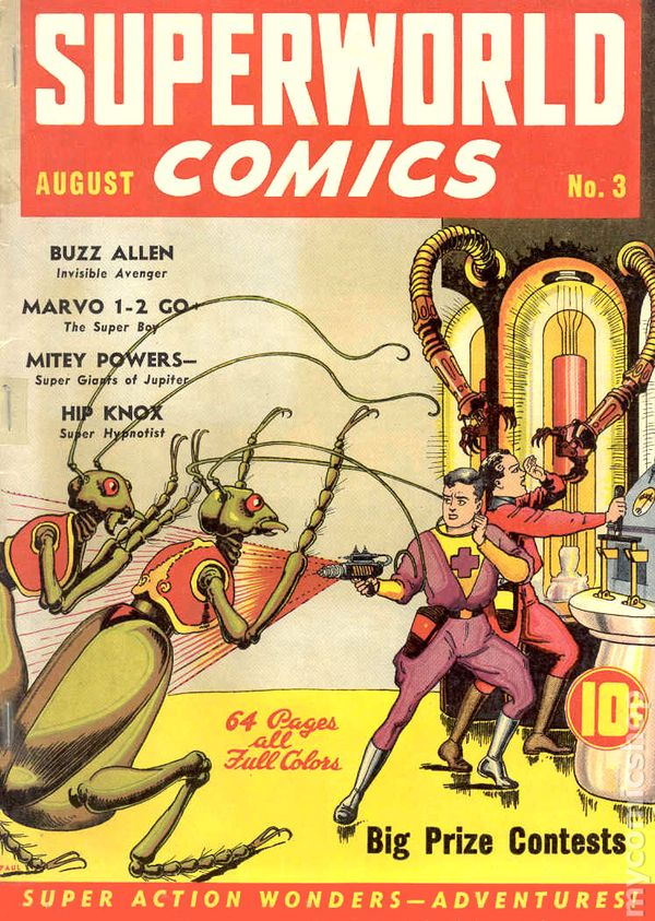 superworld comics 1940 comic books