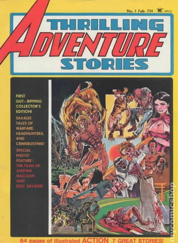 Thrilling Adventure Stories (1975) comic books