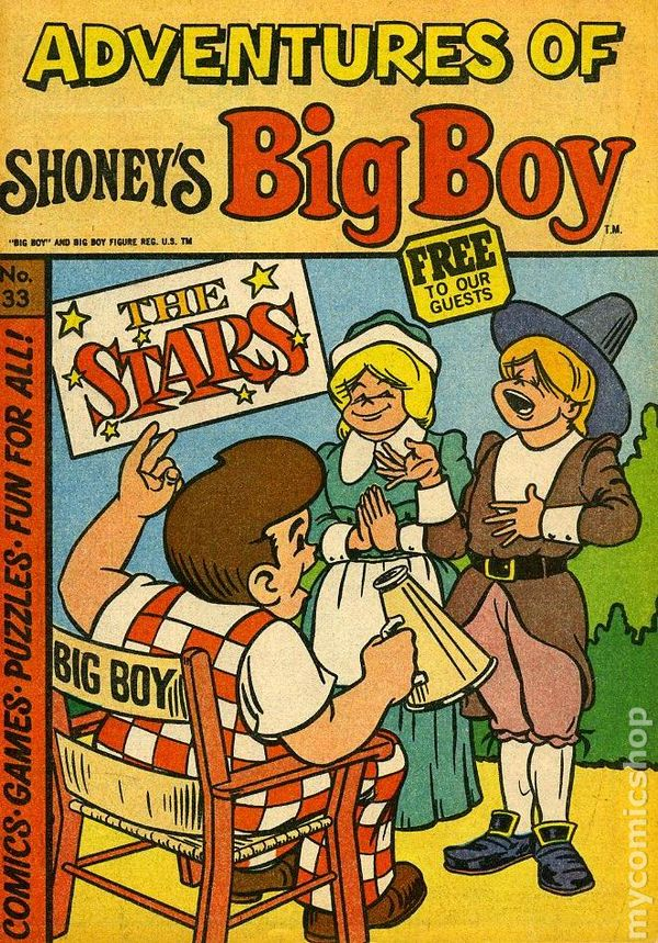 Old Comic Book Adventures of Shoney/'s Big Boy Free to Guests #24