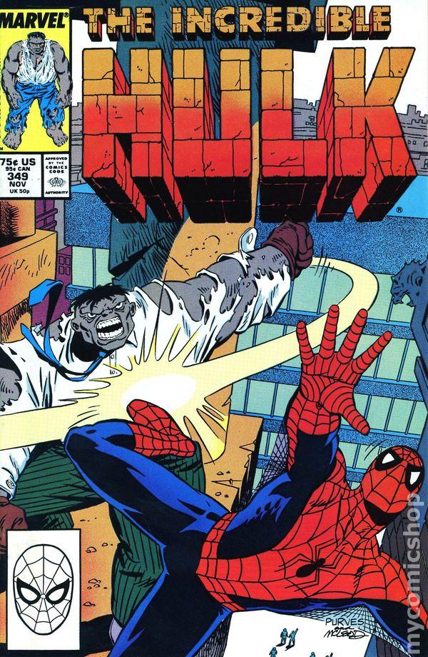Comic books in spider man incredible hulk 1962 1999 1st series 349 fandeluxe Gallery