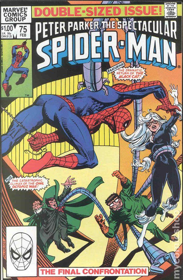 Spectacular Spider Man Comic Books Issue 75