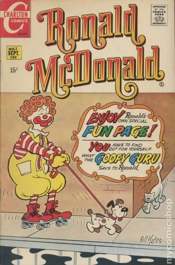 Ronald Mcdonald 1970 Comic Books