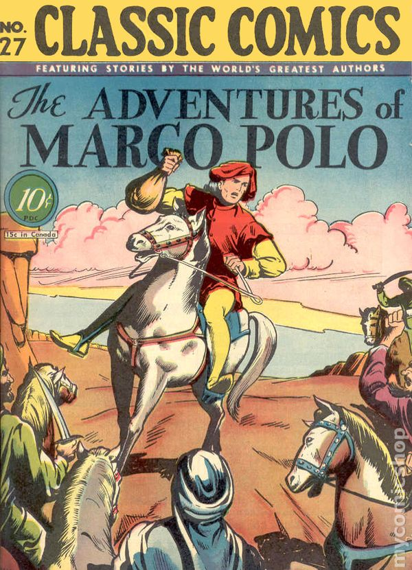 Classics Illustrated 027 Marco Polo (1946) comic books