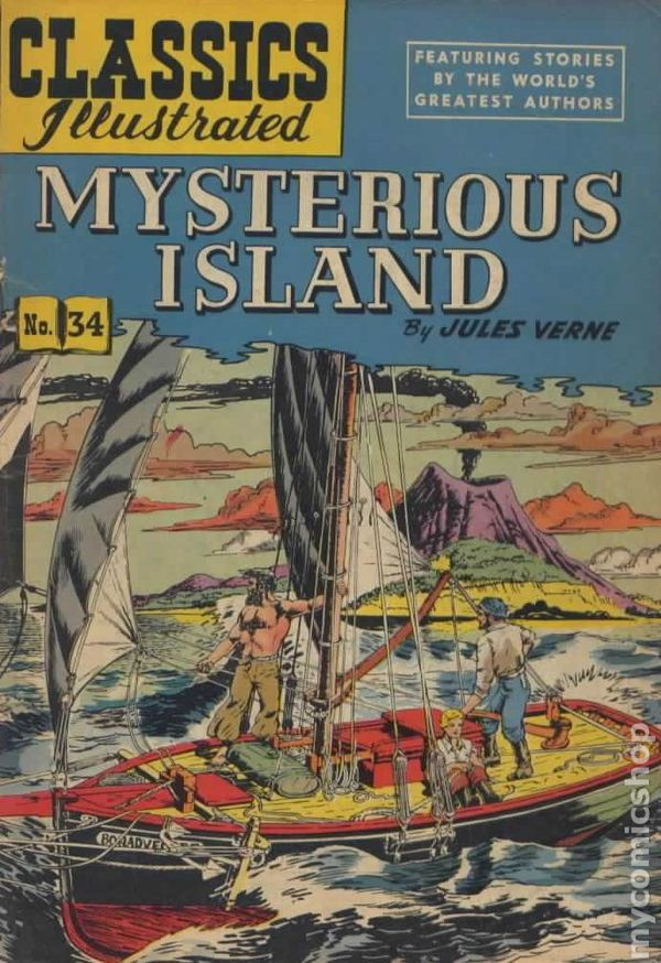 Illustrated Book Cover Number ~ Classics illustrated mysterious island comic books