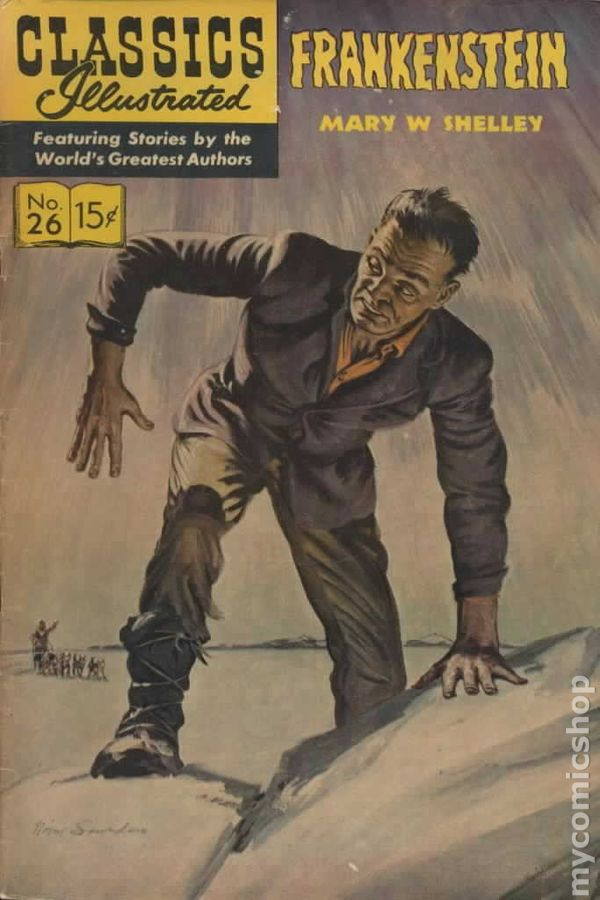 Image result for shelley - frankenstein classic illustrated comic