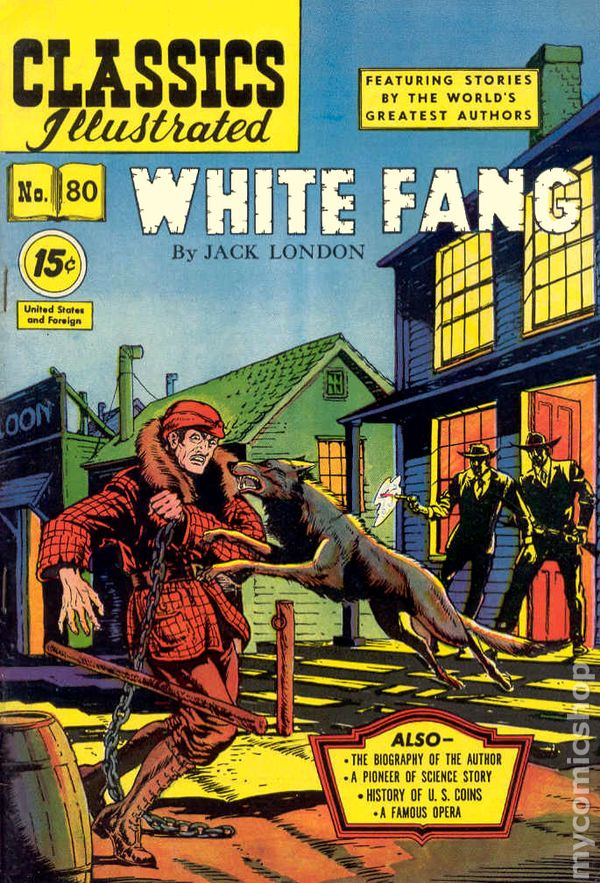 Worksheets White Fang 8th Grade classics illustrated 080 white fang 1951 comic books 2