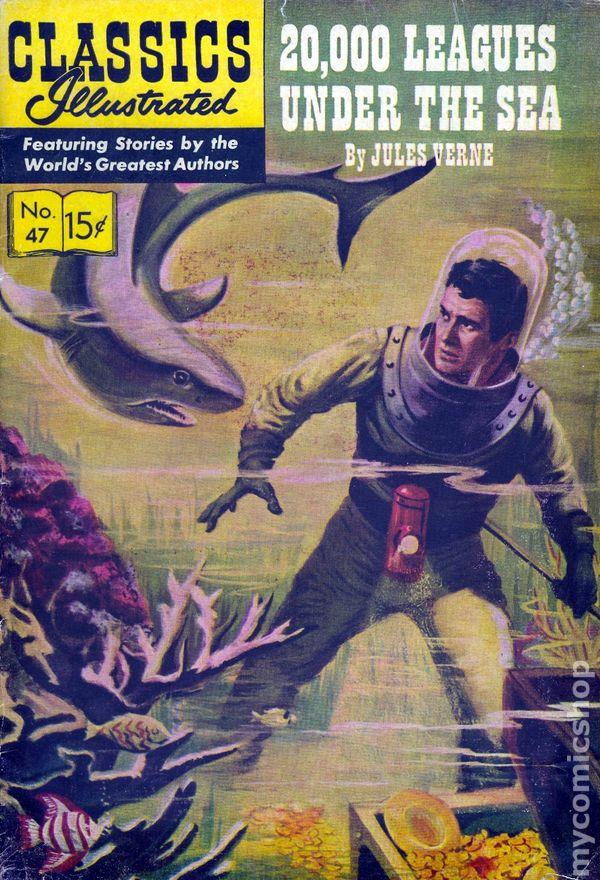 Classics Illustrated 047 20000 Leagues Under The Sea 1948 Comic Books