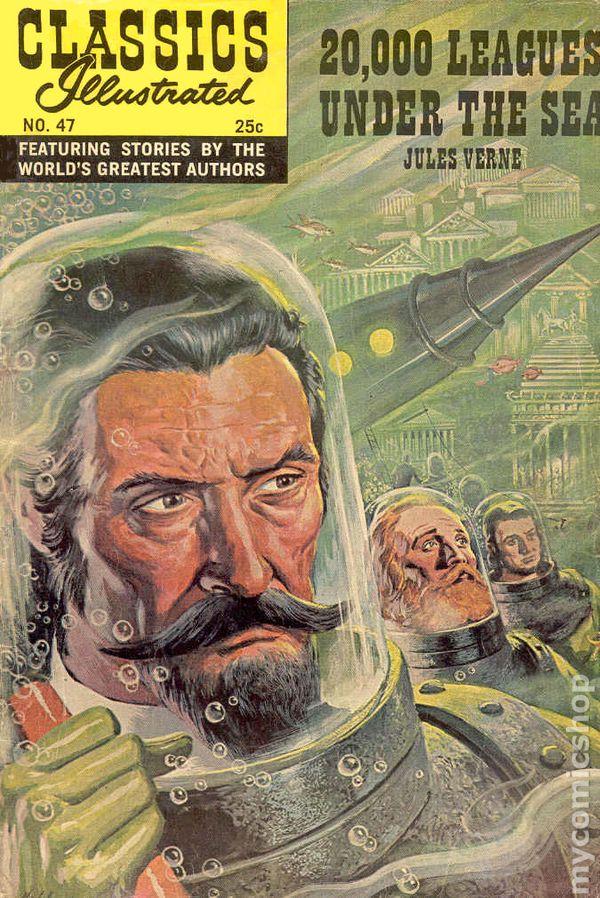 Classics Illustrated 047 20000 Leagues Under The Sea 1948 Comic