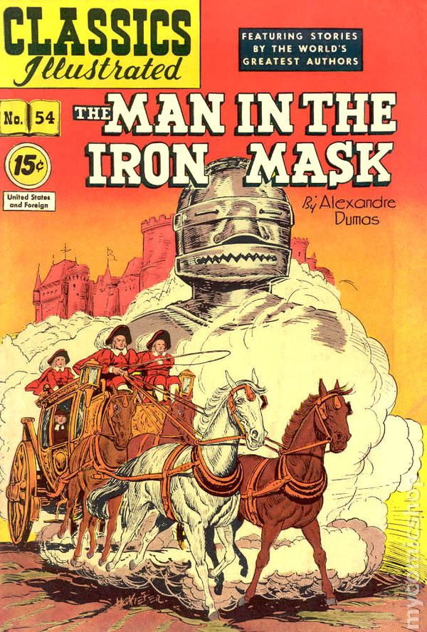 Classics Illustrated 054 Man In The Iron Mask 1948 Comic Comic Books In Illustrated Book