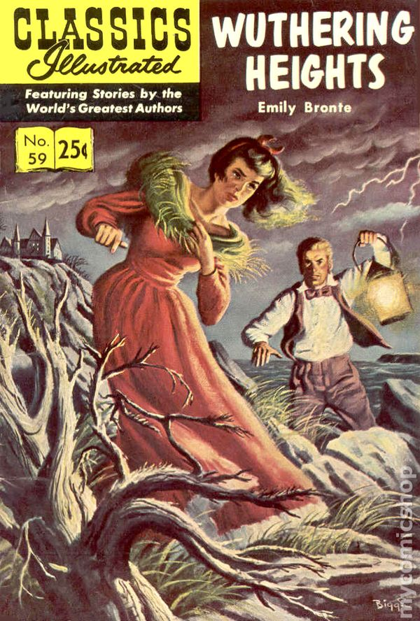 Illustrated Book Cover Zwart : Classics illustrated wuthering heights comic books