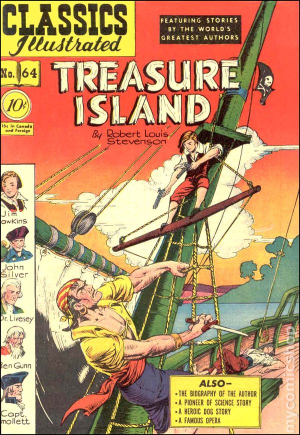Image result for stevenson treasure island classics illustrated