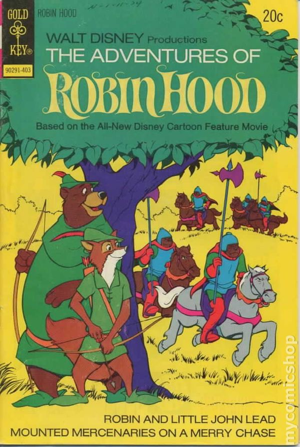 Adventures Of Robin Hood 1974 Gold Key Comic Books