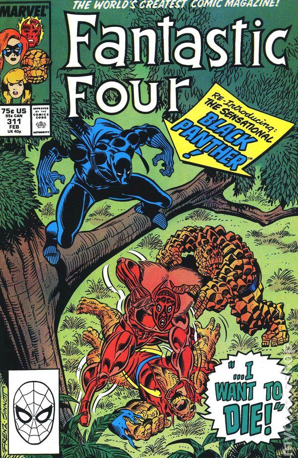Fantastic Four #320 FN 1988 Stock Image