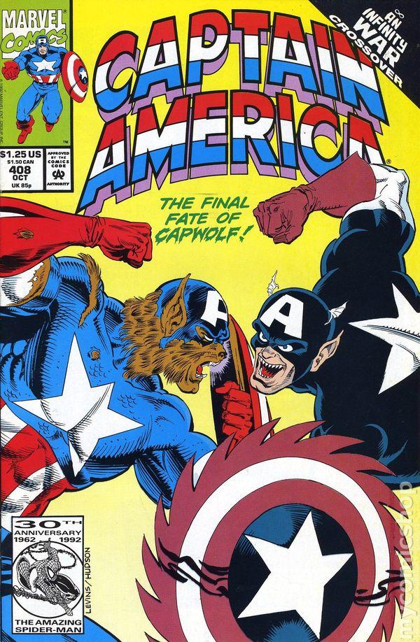 Captain America 1st Series #407 1992 FN Stock Image