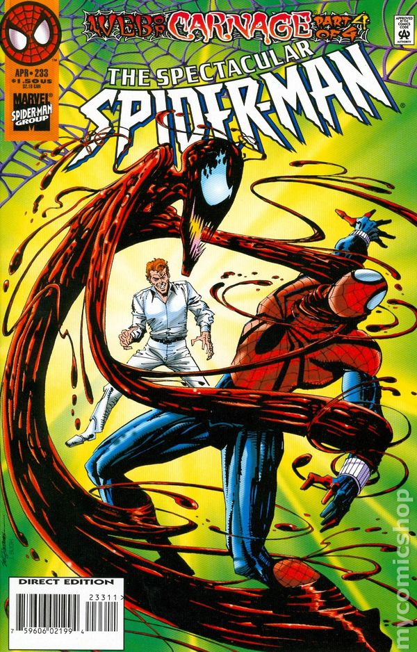 comic books in spiderman web of carnage