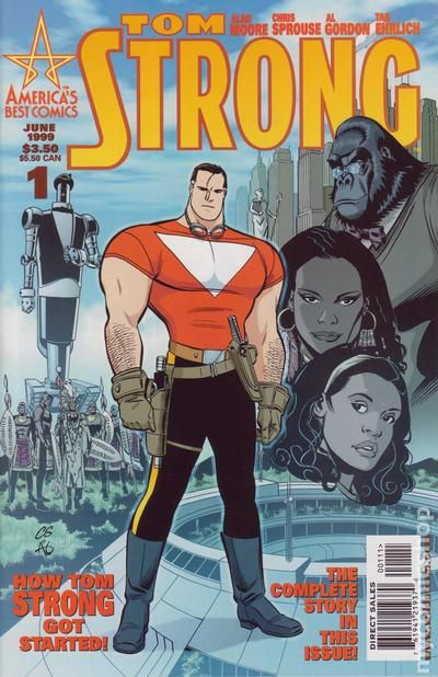 Tom Strong #16 April 2002 America/'s Best Comics Moore Sprouse