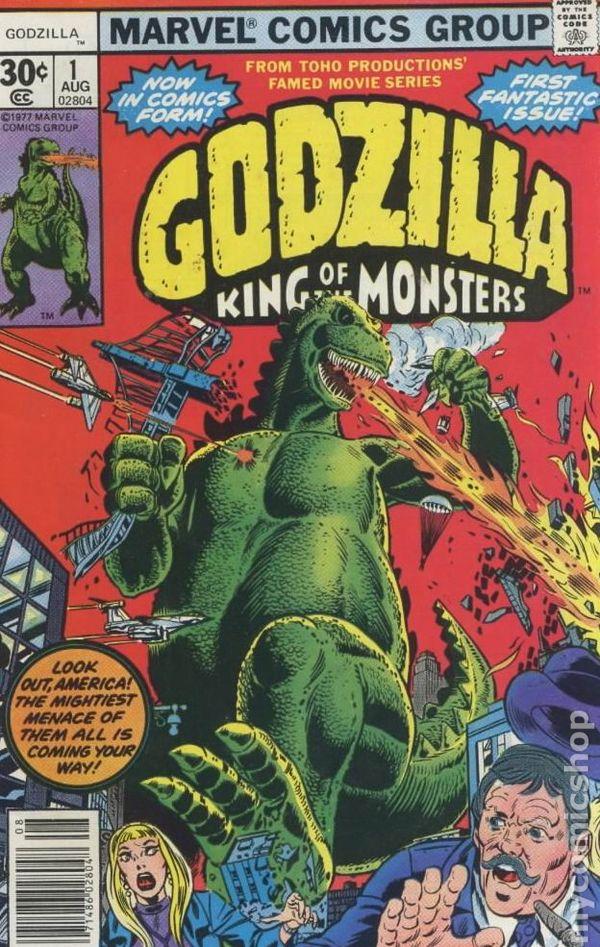 Comic Book Cover Art For Sale ~ Godzilla marvel comic books