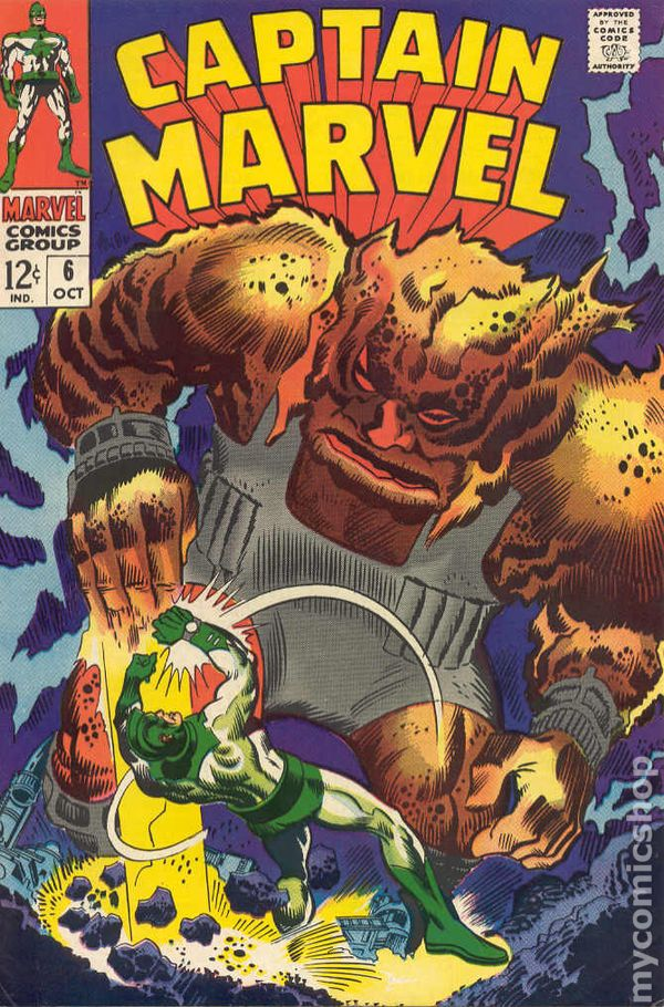 Captain Marvel 1968 1st Series Marvel Comic Books 1960 1969