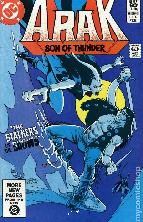 Bronze Age (1970-83) Original Arak Son Of Thunder #24 1983 Fn Stock Image