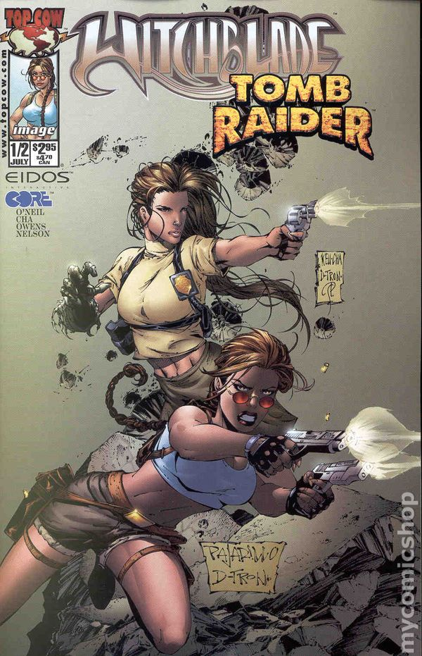 Witchblade Tomb Raider 1998 1 2 Comic Books