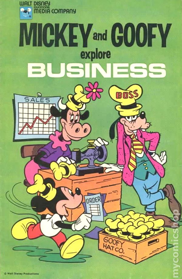 Mickey And Goofy Explore Business 1978 Comic Books
