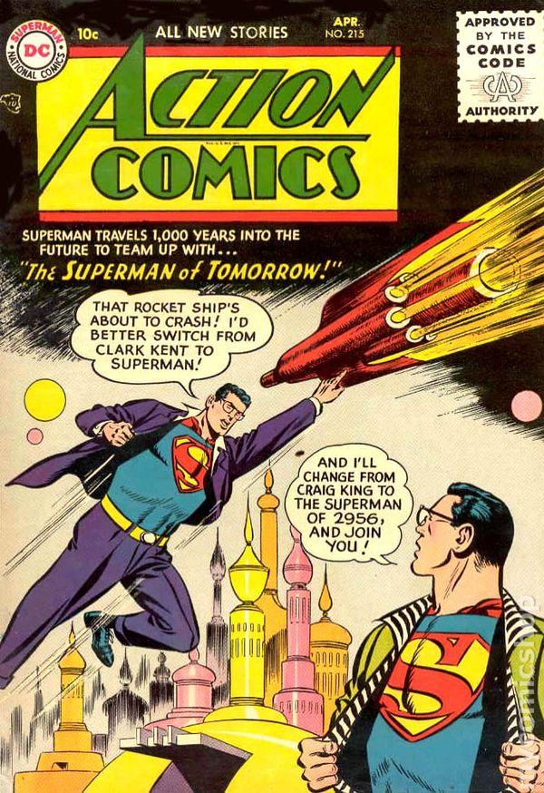 Action Comics 1938 Dc Comic Books 1956 1969