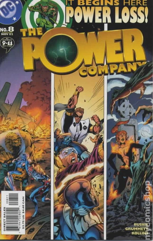 2002 THE POWER COMPANY #4 1ST PRINT BAGGED /& BOARDED DC COMICS